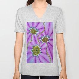 Lotus Flowers Unisex V-Neck