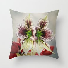 Twin Lilies Throw Pillow