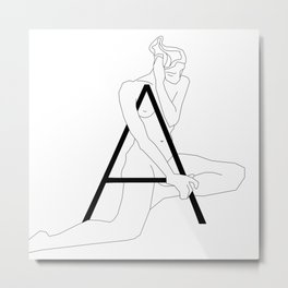 In Love with Letter A Metal Print