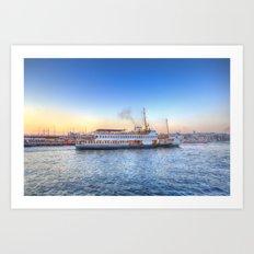 Pleasure Cruise Boat Istanbul Art Print
