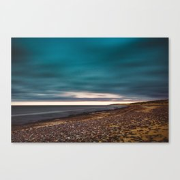 Nature photo - landscape - seaside of pebbles Canvas Print