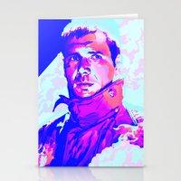 blade runner Stationery Cards featuring RICK DECKARD // BLADE RUNNER by mergedvisible