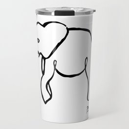 Pablo Picasso, Rare Elephant Drawing, Line Sketch Artwork, Prints, Posters, Bags, Tshirts, Men, Wome Travel Mug