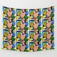 balloons Wall Tapestries featuring Balloons by lillianhibiscus