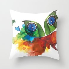 colorful butterfly Throw Pillow