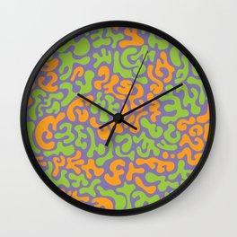 Social Networking Grape, Lime, Orange Wall Clock