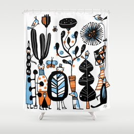 STRANGE GARDEN Shower Curtain
