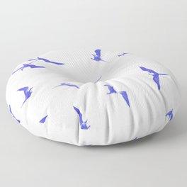 Blue seabirds by #Bizzartino Floor Pillow