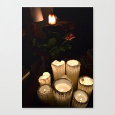 melting candles Canvas Print