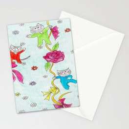 Cats Pajama Party Stationery Cards