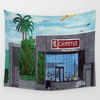 hollywood Wall Tapestries featuring Chipotle - Hollywood by Jake Hollywood