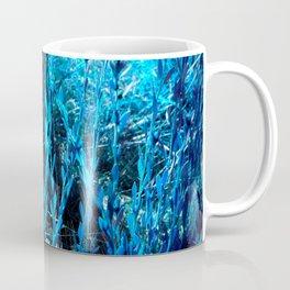 alien landscape indigo blue green forest surreallist Coffee Mug