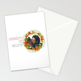 Queliot; Underneath the mistletoe Stationery Cards