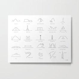Landmarks I, by Will Zurmann Metal Print