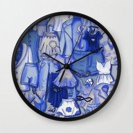 BLUE CLOTHES Wall Clock