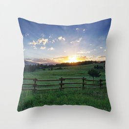 Foothills Sunset Throw Pillow