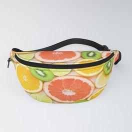 oranges ,grapefruit,kiwi, lemon and other fruits sliced Fanny Pack