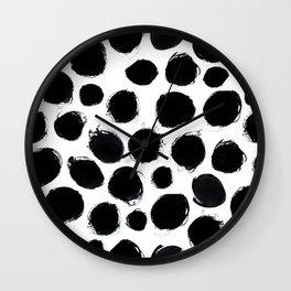 Ink circles Wall Clock