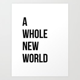 A Whole New World Art Print