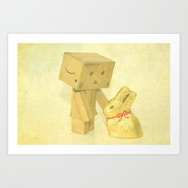 Easter with danbo Art Print