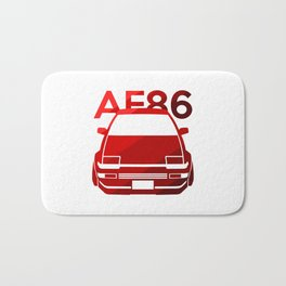 Toyota AE86 Hachi Roku - classic red - Bath Mat