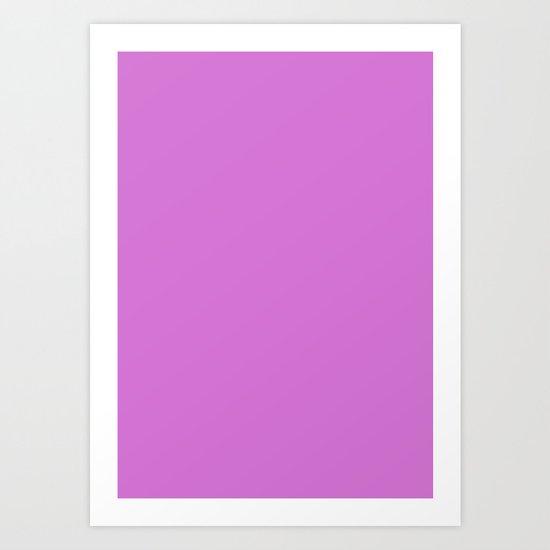 Deep mauve Art Print