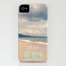 LIFE IS A BEACH Slim Case iPhone (4, 4s)