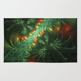Mysterious Jungle, Abstract Fractal Art Rug