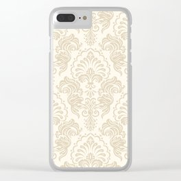 Damask Pattern Clear iPhone Case