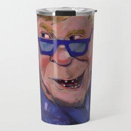 Caricature of Elton John Travel Mug