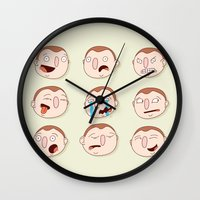 boys Wall Clocks featuring Boys by Pedro Vilas Boas
