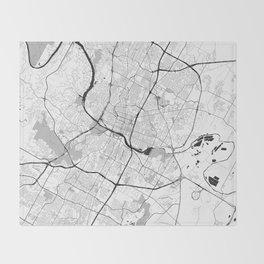 Austin Map Gray Throw Blanket