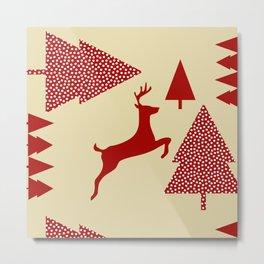 Reindeer cream Metal Print