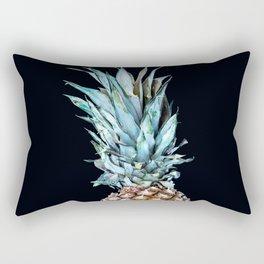 Pineapple On A Black Background #decor #society6 Rectangular Pillow