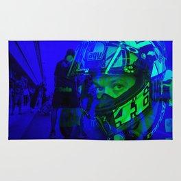 Valentino Rossi Double Exposure Rug