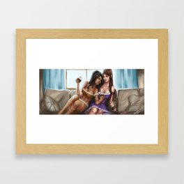 Nidalee and Caitlyn Commission Framed Art Print