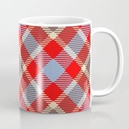 Red tartan, plaid with black blue stripes Coffee Mug