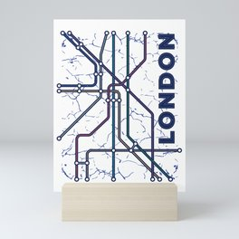 London undeground map Mini Art Print