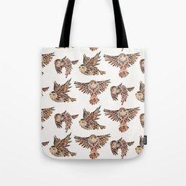 Owls in Flight – Brown Palette Tote Bag