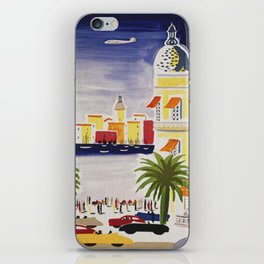 The French Riviera - Vintage Travel iPhone Skin