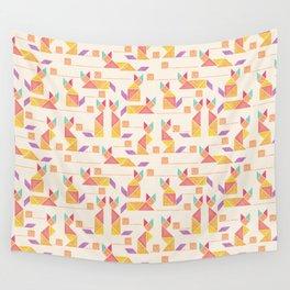 Tangram Cats Wall Tapestry