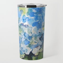 Blue Hydrangeas Travel Mug