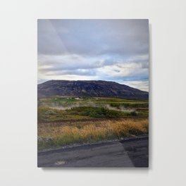 Looking up at Efsti-Dalur Farm in Laugarvatn, Iceland Metal Print