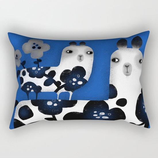 FLOWERED FRIENDS Rectangular Pillow