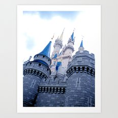 Disney Castle In Color Art Print