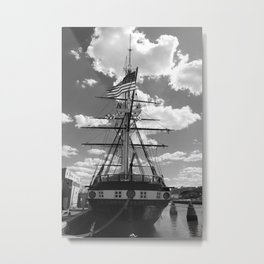 Baltimore Harbor - USS Constellation Metal Print
