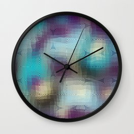 Geometric pattern on abstract paisley background. Wall Clock