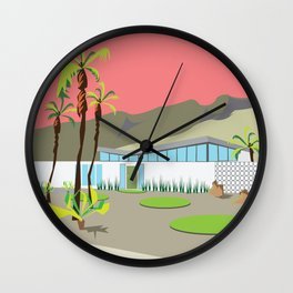 Palm Springs CA Mid-Century House Sunset Wall Clock