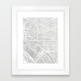 DC city print Framed Art Print