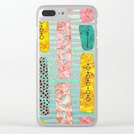 Modern Tribal Stripes Clear iPhone Case